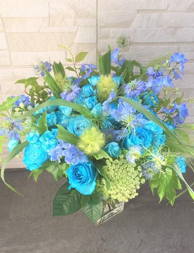 青色 花束