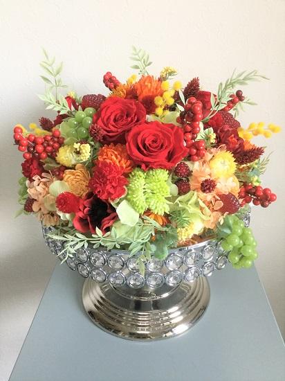 皮膚科開院祝い花 プリザーブドフラワー