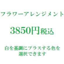 楽屋花フラワーアレンジメント 白3850円