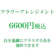 楽屋花フラワーアレンジメント 白6600円